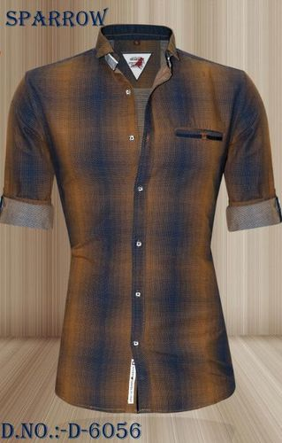 Men's Dotted Chex Shirt in  New Area