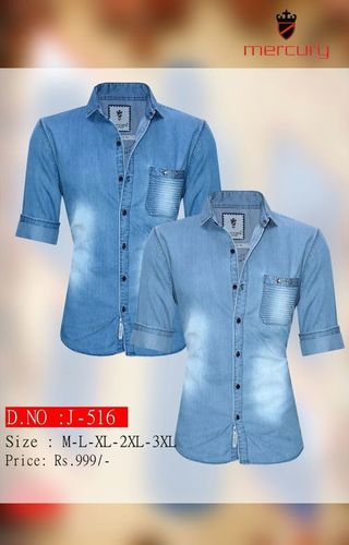 Mens Denim Shirt in  New Area