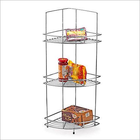 Triple Corner Stainless Steel Kitchen Basket in   Dist.