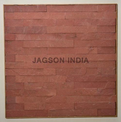 Agra Red Stone Cladding