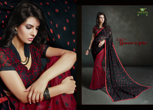 Awesome Red Printed Saree