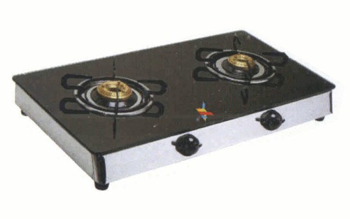Glass Cooktop Steel Gas Stove