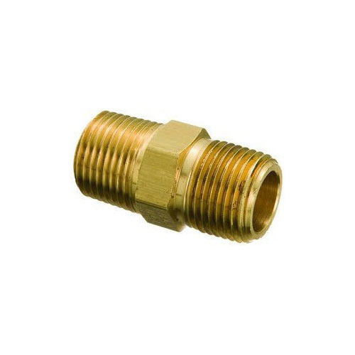 Brass Hex Nipple in   Dared