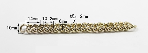 Iron And Zinc Alloy Metal Chains For Handbags And Purses