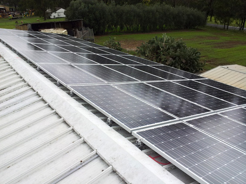 Solar Panel Mounting Structures in   Above Karnataka Bank
