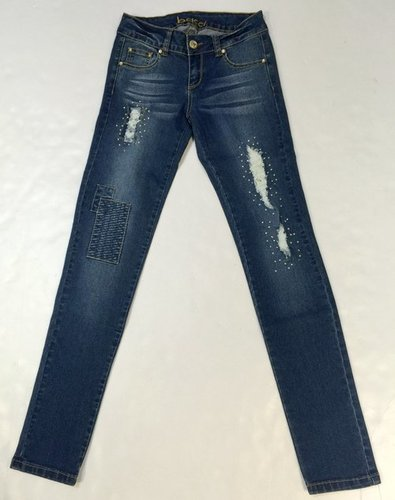 Ladies Ripped Jeans With Rhinestones in   Royal-Kind Mansion No. 443 Dapu Road