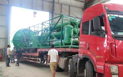 Chile Customer Waste Tyre Pyrolysis Plant And Waste Oil Distillation Plant Finished Delivery