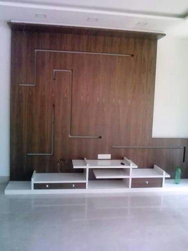 Wooden Designer Tv Unit In Vadodara Gujarat R N Interior