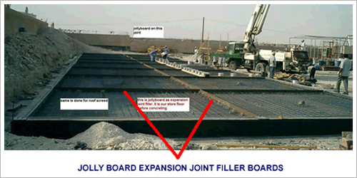 Fibre Expansion Joint Filler : Jolly board expansion joint filler in marine lines mumbai