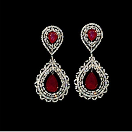 Diamond Ruby Earring in   Near Gole Nimbra