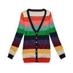 Ladies Rainbow Cardigan