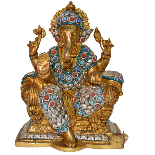 Brass Ganesha Idol in   Agra Road