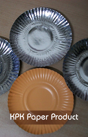 Round shaped paper plates