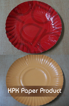 Printed or unprinted paper plate