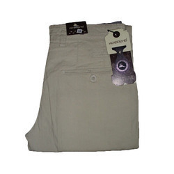 Men Semi Formal Cotton Trouser