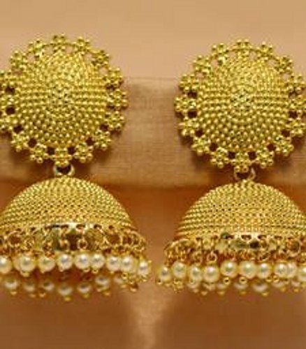 Gold Plated Jhumkas in  Hapur
