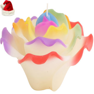 Multicolor Flower Candle