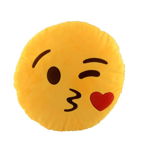 KISS Emoji Pillow Car Cushion