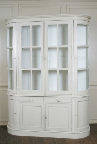 Wooden Antic White Showcase