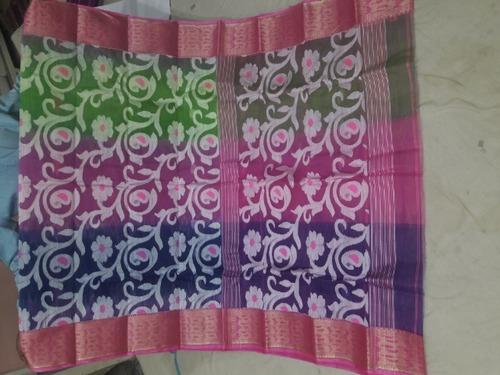 Cotton Jamdani Saree in   P.O. - Fulia Colony