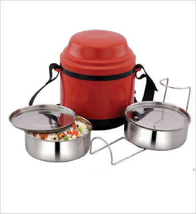 Good Day 2 Stainless Steel Lunch Carrier in  Wall Tax Road