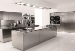 English Style Stainless Steel Kitchen