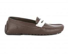 Brown Genuine Milled Leather Driving Loafer