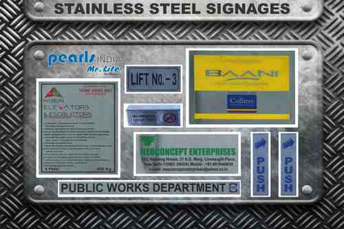 Stainless Steel Signage in  Okhla - Ii