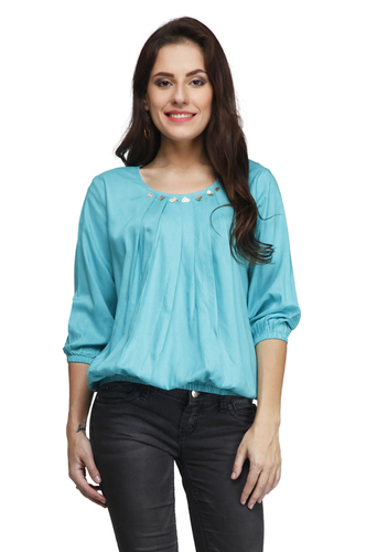 Ladies Rayon Top in  Tughlakabad