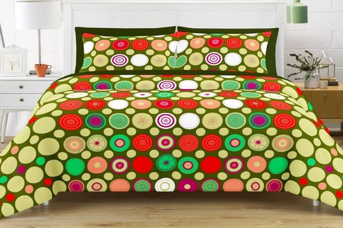 Bedsheet Double Bed Queen Size 100% Cotton with 2 Pillow Covers in  Satellite