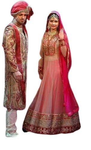 Bridal Lehenga And Sherwani Bridegroom Set