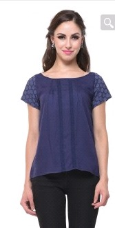Slate Blue Easy Fit Top