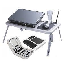 Foldable Laptop Table With 2 USB Cooling Fans