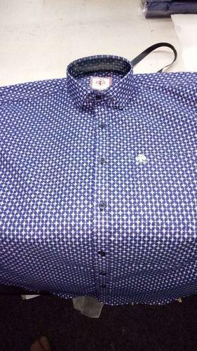 Silk Denim Dark Blue Shirts
