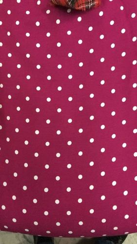 Modal Rayon Dotted Printed Fabric