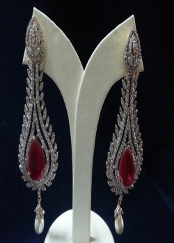 Red Stone Hangings Earring