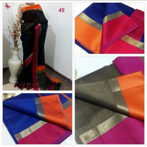 Maheshwari Handloom Silk Cotton Sarees in   Dist-Dhar
