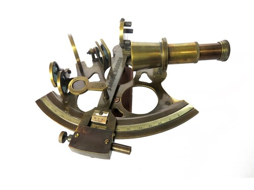 Nautical Antique Brass Sextant in   Rampur Road