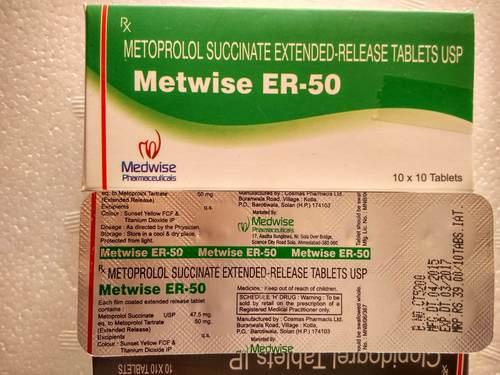 Metoprolol Er 50mg Tablets
