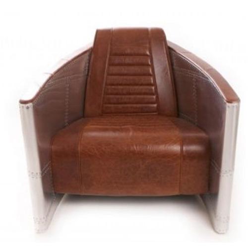Brown Leather Aviator Armchair In Jodhpur Rajasthan