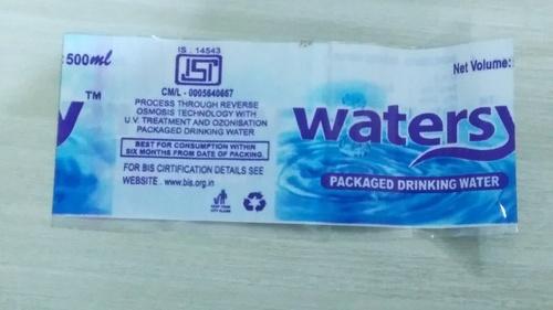 PVC Water Label