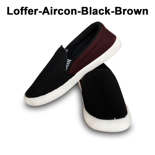 Loffer Aircon Black Brown Casual Shoes