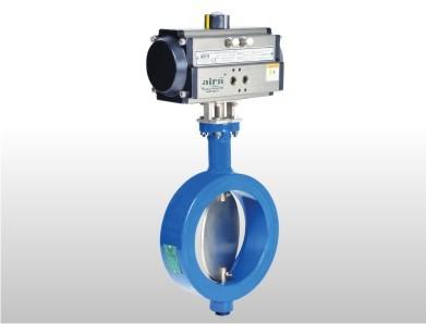 Pneumatic Rotary Actuator Wafer Type Damper Valve