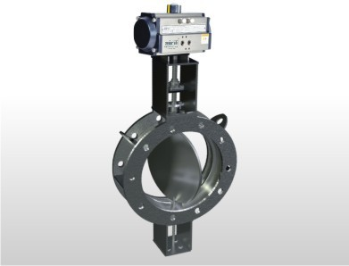 Pneumatic Rotary Actuator Double Flange Fabricated Damper Valve