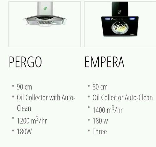 Pergo Auto Oil Collector Kitchen Chimney