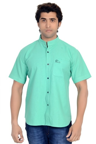 Khadi Chinese Collar Shirt