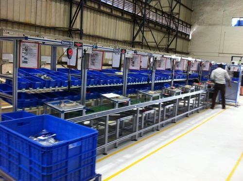 Assembly Line Workstations : Assembly line synchronized workstation in pune