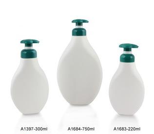 Sample Plastic Shampoo Bottles With Pump 220ml 300ml 750ml in   HUDI ROAD