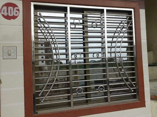 stainless steel window grill in wilson garden