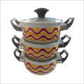 Vitreous Enamel Cookware With Lid in  Peera Garhi